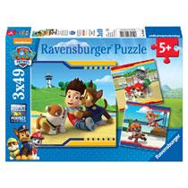 Ravensburger PAW Patrol puzzelset Helden met vacht - 3 x 49 stukjes