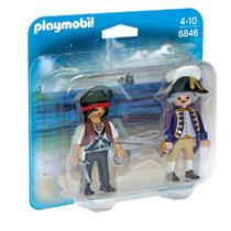 PLAYMOBIL duopack piraat en soldaat 6846