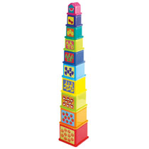 Playgo Play 'n Learn regenboog stapelpiramide