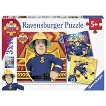 Ravensburger Brandweerman Sam puzzelset Bij gevaar Sam roepen - 3 x 49 stukjes
