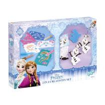 Totum Frozen 2-in-1 knutselset met spraypens en strijkkralen