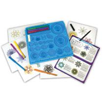 - Spirograph kit met markers