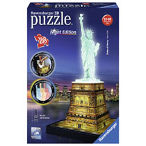 Ravensburger 3D-puzzel Statue of Liberty Night Edition - 108 stukjes