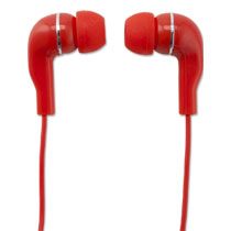 WM EARPHONE RED