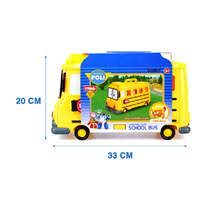 Silverlit Robocar Poli schoolbus met opslagruimte 14 die-castfiguren