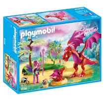 PLAYMOBIL Fairies drakenhoeder met rode draken 9134