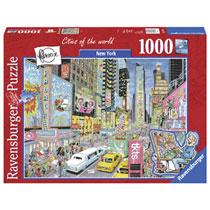 Ravensburger puzzel Fleroux Cities of the world: New York - 1000 stukjes