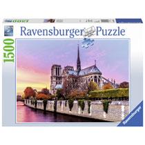 Ravensburger puzzel Schilderachtige Notre Dame - 1500 stukjes