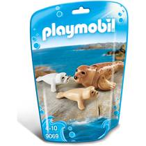 PLAYMOBIL 1.2.3 Family Fun zeehond met pups 9069
