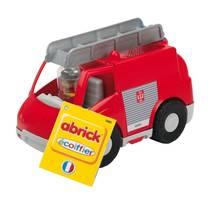 Ecoiffier brandweerwagen met bouwblokken 27 x 15 x 18 cm