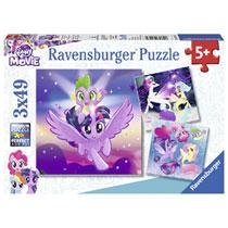 Ravensburger puzzelset My Little Pony avonturen met de pony's - 3 x 49 stukjes