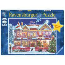 Ravensburger kerstpuzzel het kersthuis - 500 stukjes