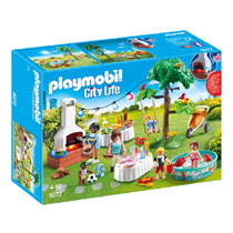 PLAYMOBIL City Life familiefeest met barbecue 9272