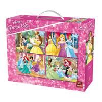 King Disney Princess 4-in-1 puzzelset - 12 + 16 + 20 + 24 stukjes