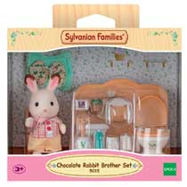 CHOCOLATE RABBIT BROTHER SET (WASHROOM)