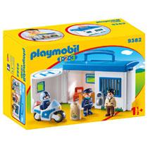 PLAYMOBIL 1.2.3 meeneempolitiestation 9382