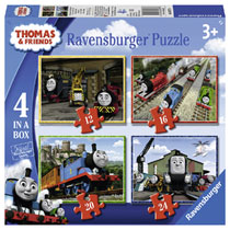 Ravensburger Thomas & Friends puzzelset - 12 + 16 + 20 + 24 stukjes