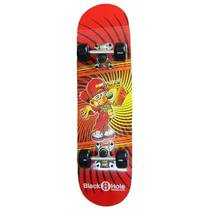 Black 8 hole boombox skateboard junior - rood