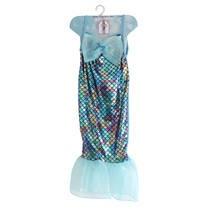Zeemeerminnenjurk - 5-7 jaar - blauw