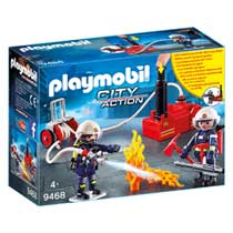 PLAYMOBIL City Action brandweerteam met waterpomp 9468