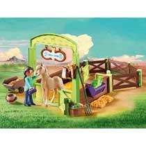 PLAYMOBIL 9479 PRU EN CHICA PAARDENBOX