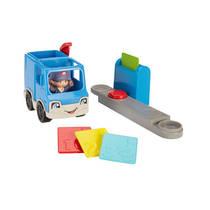 Fisher-Price Little People voertuig postauto 4-delig - blauw