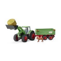 Schleich figuur speelset tractor met aanhangwagen 42379