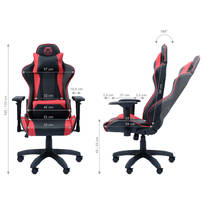QWARE GAMING CHAIR TAURUS - RED