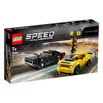 LEGO Speed Champions 2018 Dodge Challenger SRT Demon en 1970 Dodge Charger R/T