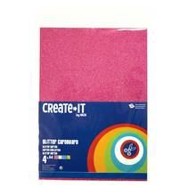 Creatie-it glitterkarton - 4 stuks