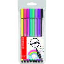 STABILO Living Colors Edition pen 68 Happy etui - 8 stuks