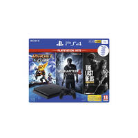 PS4 Slim 1TB + Ratchet & Clank + Uncharted A Thief's End + The Last of Us Remastered