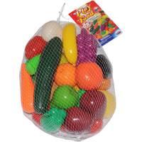 Speelfruit en groenten in net set 28-delig