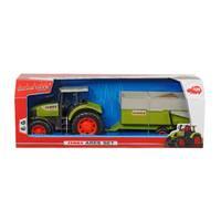Dickie Toys tractor met aanhanger Claas Ares - 57 cm