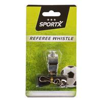 SportX scheidsrechterfluitje metaal