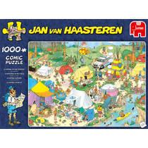 Jumbo Jan van Haasteren puzzel Kamperen in het bos - 1000 stukjes