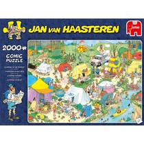 Jumbo Jan van Haasteren puzzel kamperen in het bos - 2000 stukjes