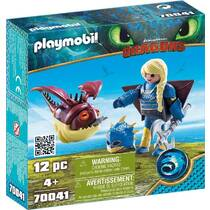 PLAYMOBIL Dragons Astrid en Schrokop 70041