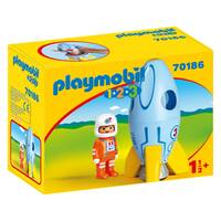 PLAYMOBIL ASTRONAUT WITH ROCKET 70186