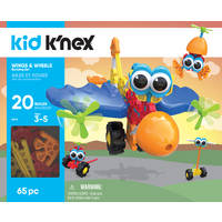 K'NEX Wings & Wheels bouwset - 65 stukjes