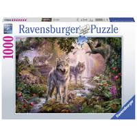 Ravensburger puzzel wolvenfamilie in de zomer - 1000 stukjes