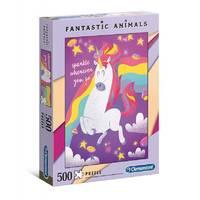 Clementoni puzzel fantastische dieren eenhoorn - 500 stukjes