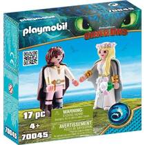 PLAYMOBIL Dragons Hikkie en Astrid speelset 70045