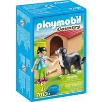 PLAYMOBIL Country kind met hond 70136