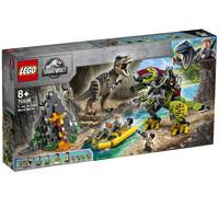 LEGO Jurassic World T. rex vs dinomecha gevecht 75938