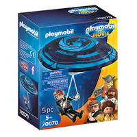 PLAYMOBIL THE MOVIE Rex Dasher met parachute 70070