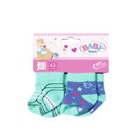 BABY BORN TREND SOCKS 2X, 3 ASS. 43CM