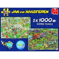 Jumbo Jan van Haasteren 2-in-1 puzzelset Food Festival - 2 x 1000 stukjes