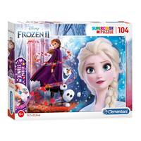 Clementoni Disney Frozen 2 Jewels puzzel - 104 stukjes