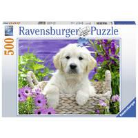 Ravensburger puzzel lieve golden retriever - 500 stukjes